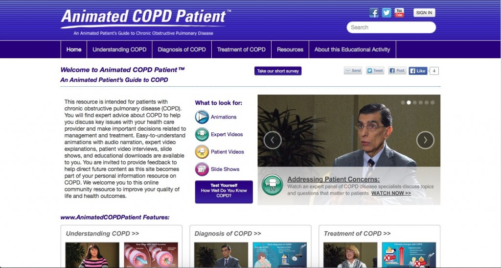 animated copd patient website